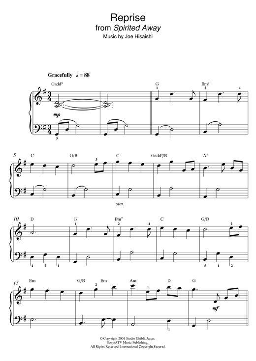 Joe Hisaishi: Reprise (from Spirited Away)