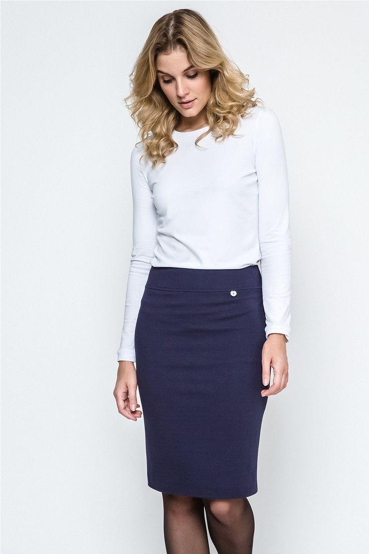 Tmavě modrá sukně 240127 | Botovo.cz