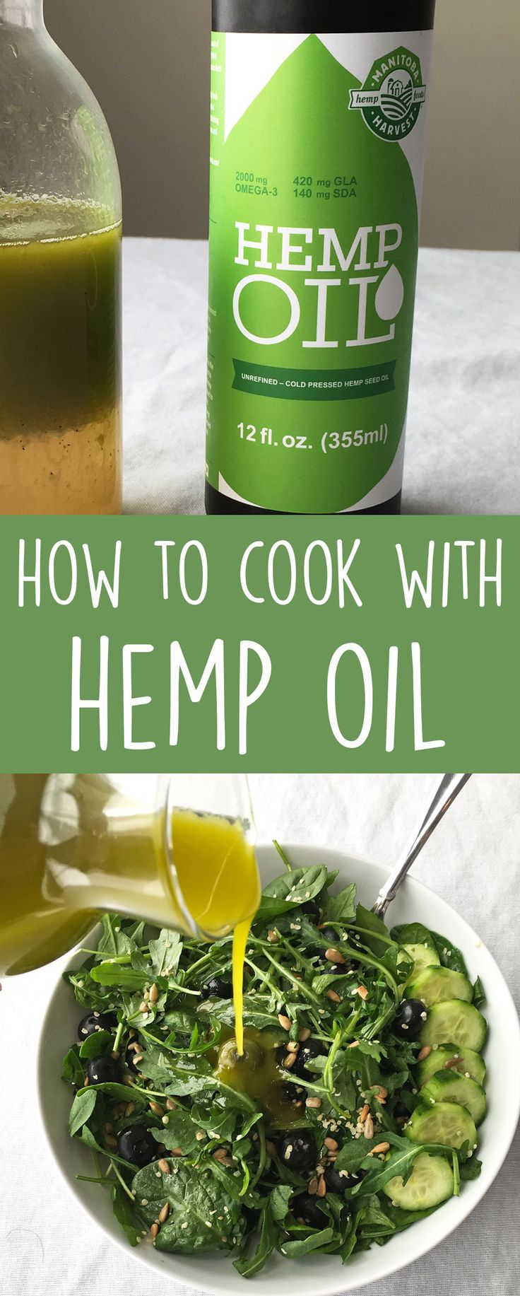 Hemp oil has a ton amazing health benefits. You can easily reap those benefits by adding to your food and recipes! Learn how to cook with hemp oil.