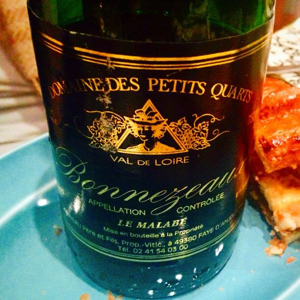 If you're not gonna drink Quarts de Chaume, drink the next best thing--Bonnezeaux! Of course, the perfect #wine for the Loire's most famous treat-Tarte Tatin. The Domaine des Petits Quarts was a #perfectpairing to this Loire Valley recipe--like liquid honey, rich apricot & dried pineapple candy.  Incidentally, a killer pairing to your #Thanksgiving pumpkin pie this yr, too.
