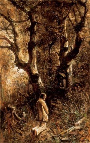 In the forest by LászlóMednyánszky