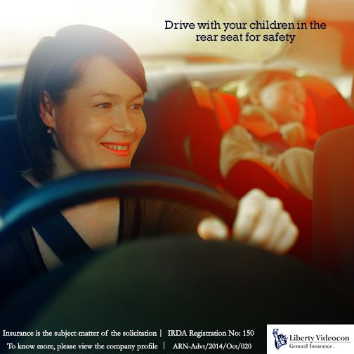 Even though children enjoy sitting in the front, the car's rear seat makes it a safer drive for them.