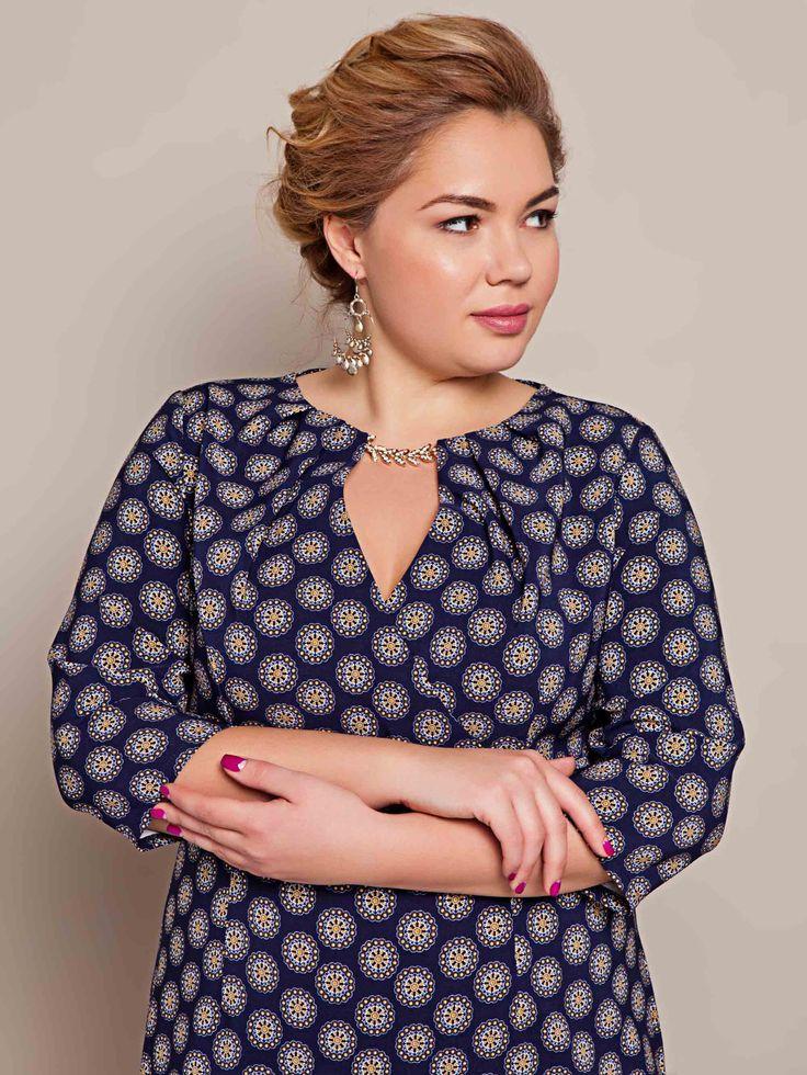 Легкое нарядное синее платье миди. Коллекция plus size 2016.