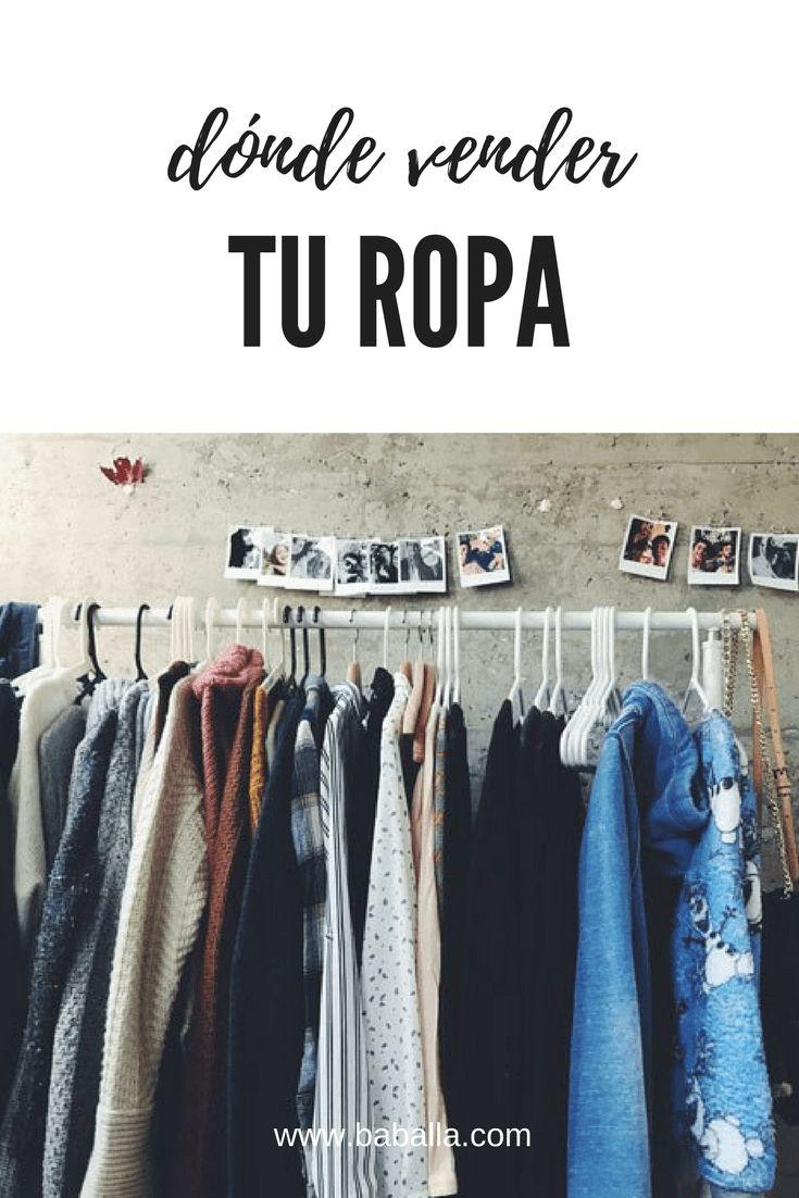 Dónde vender ropa de segunda mano #reciclar #segundamano