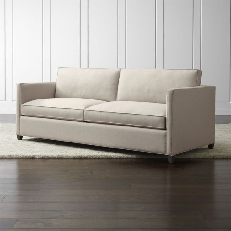 Shop Dryden Grey Modern Sofa.   For a bit of sparkle and classic definition, a hand-applied nailhead trim is also available.  The Dryden 2-Seat Sofa is a Crate and Barrel exclusive.