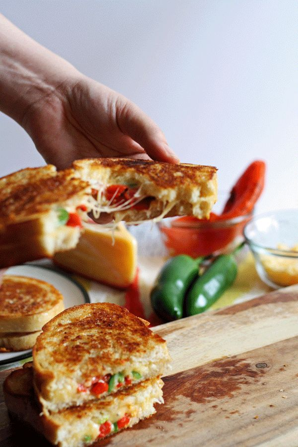 Roasted Red Pepper Grilled Cheese | Recipe | Cheese, Gouda and Grilled ...