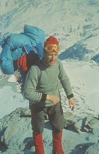 Walter Bonatti at Gran Capuccin. He was an Italian mountain climber, explorer and journalist. In 1955 he made a solo climb of a new route on the south-west pillar of the Aiguille du Dru, the first ascent of Gasherbrum IV in 1958,  in 1965 first solo climb in winter of the north face of the Matterhorn. After his solo climb up the Matterhorn, Bonatti retired from climbing at age 35. He spent the rest of his life off the beaten track as a reporter for the Italian magazine Epoca. He died…