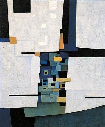 'Ciudad Maya' por Gunther Gerzso, óleo sobre lienzo, 1958 - 'Ciudad Maya' by Gunther Gerzso, oil on canvas, 1958