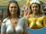 They were locked in one of the most explosive feuds of the series thus far.Yet Chanelle McCleary and her Big Brother housemate Ellie Young opted to truly turn their backs on their woes as they threw themselves into the latest task in the house - which saw them coat their assets in dazzling