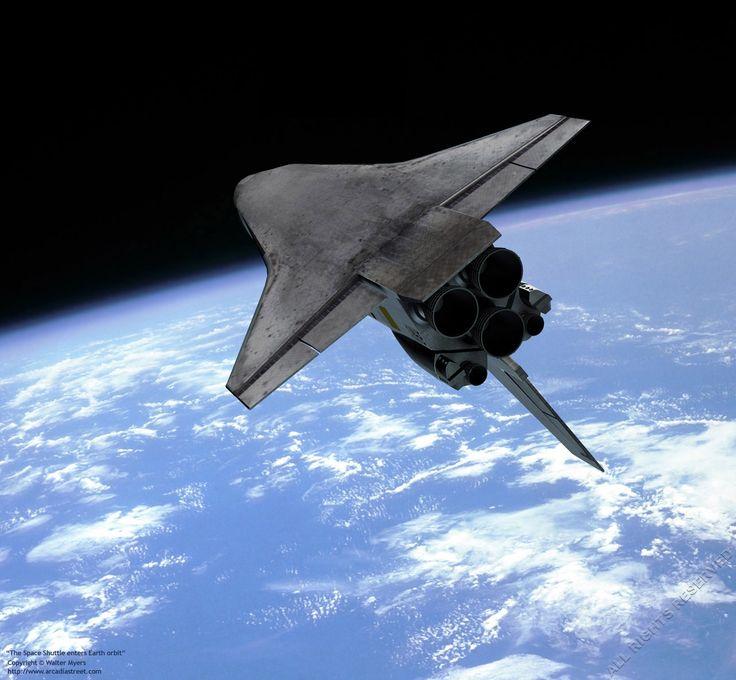 Space Shuttle In Orbit | Space exploration - The underside ...