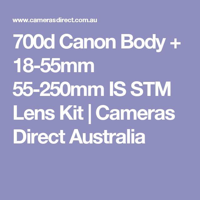 700d Canon Body + 18-55mm 55-250mm IS STM Lens Kit | Cameras Direct Australia