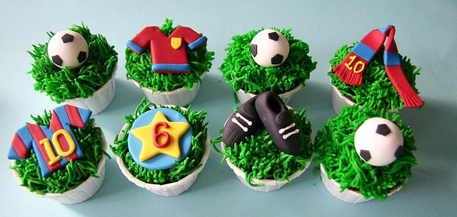 FC barcelona cupcakes