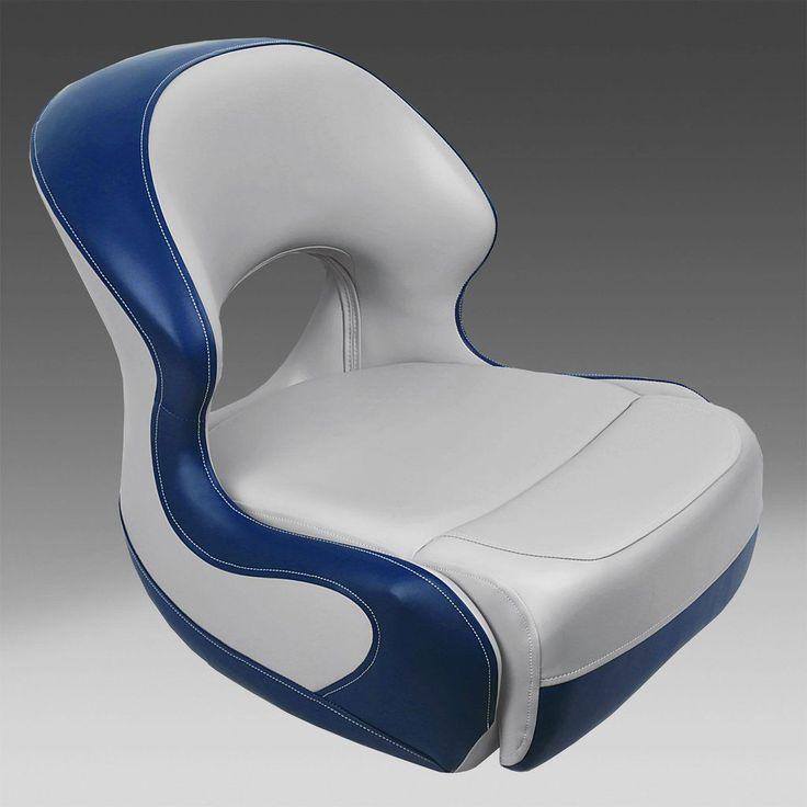 Gray & Blue Pontoon Seats