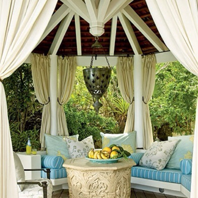 Love The Outdoor Curtains