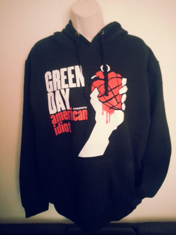 Green Day American Idiot printed Black Hooded by UnitedClothes, $20.89