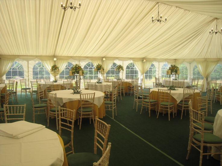 At this wedding we used green seat pads on the Limewash chaivari chairs to give a spring like feel which complimented their chosen theme and colour scheme.    http://www.richardsonmarquees.co.uk/prices-and-products.html