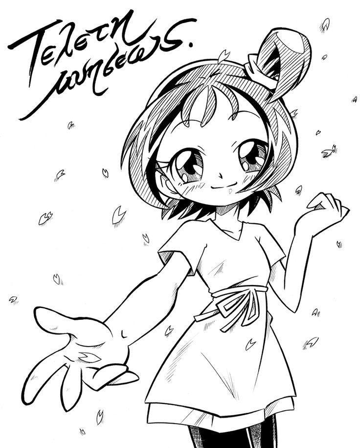 Tags: Fanart, Ojamajo DoReMi, Segawa Onpu, Line Art, Pixiv Id 434769
