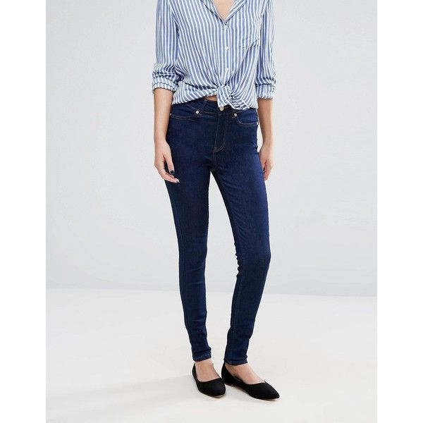 Oasis Skinny Ankle Grazer Jeans ($67) ❤ liked on Polyvore featuring jeans, blue, super skinny jeans, skinny leg jeans, tall skinny jeans, super skinny ankle jeans and tall jeans