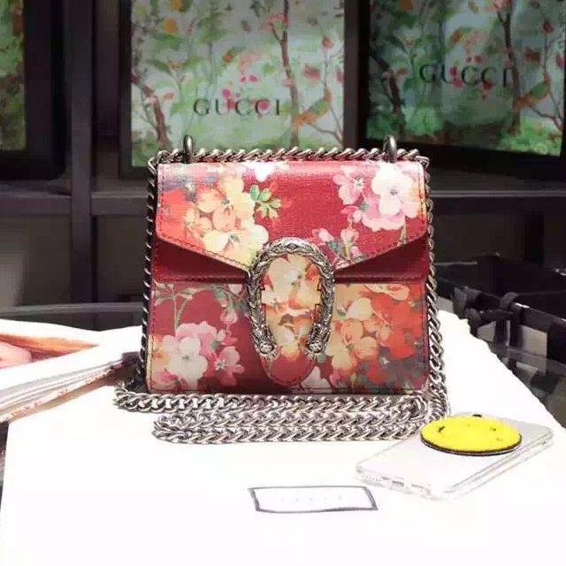 Gucci Mini Dionysus Blooms Shoulder Bag Red Shoulder Bag Gucci