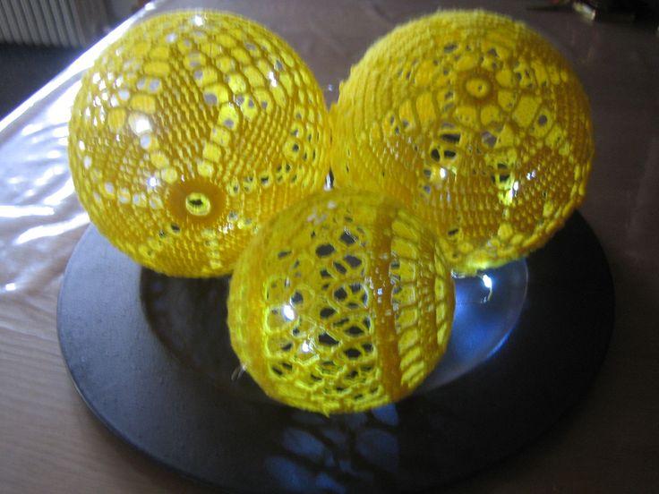 hæklede lyskugler opskriften er fra nettet