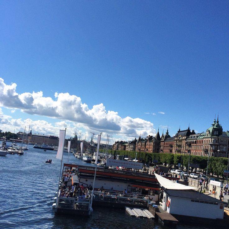 #stockholm #sommar #strandvägen #strandbryggan # östermalm # djurgården