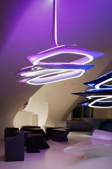 The Vortex Chandelier By Zaha Hadid: Vortex Chandeliers, Vortexx Chandeliers, Zaha Hadid Architects, Futuristic Design, Ideal House, Architecture, Modern Interiors, Zahahadid, Modern Design