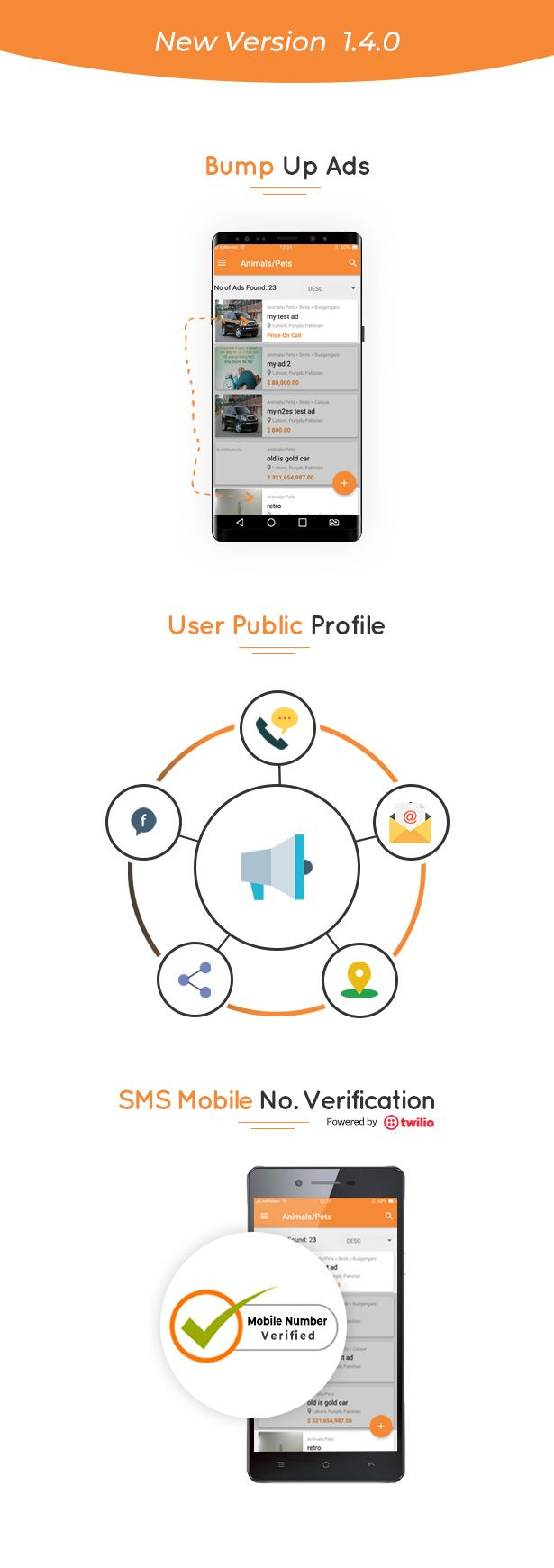 #ADFOREST #CLASSIFIEDADS #ANDROID #MOBILE #APP LAUNCHED NEW VERSION 1.4.0 with Bump up ads, User public Profile, sms mobile no. verification and many more features 😎