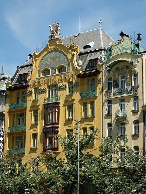 Grand Hotel Europa (Prague). One of the most luxurious hotels in Prague. #hotelinteriordesigns