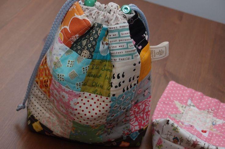 Drawstring bag  www.vjahodovce.blogspot.com
