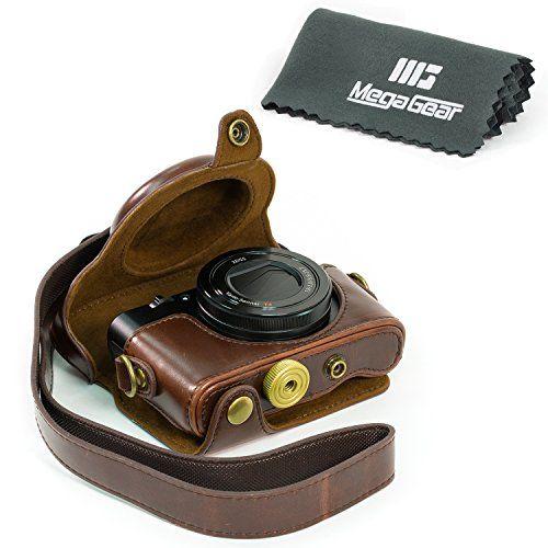 """MegaGear """"Ever Ready"""" Protective Leather Camera Case, Bag for Sony Cyber-shot DSC-HX90V Digital Camera (Dark Brown) MegaGear http://www.amazon.com/dp/B0151A3XIE/ref=cm_sw_r_pi_dp_.rswwb14WNR8Z $25.99 11/15"""