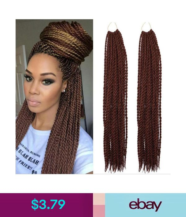 $3.99 – 22″ Synthetic Ombre Brown Kanekalon 30Small Senegalese Braid Twist Croch…