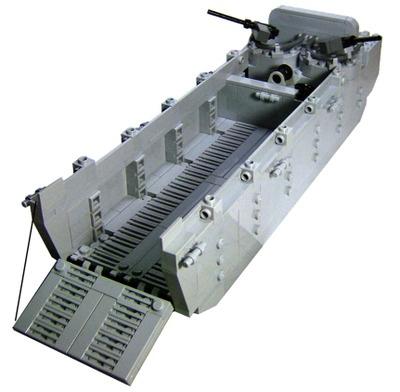 Custom Lego Military Vessel Model Set For Sea Going Minifigures Higgins Boat Landing Craft