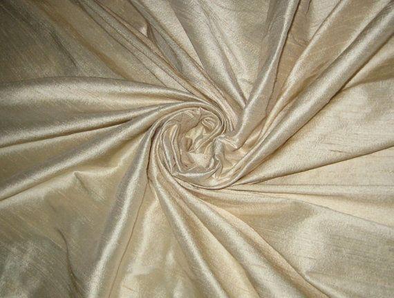 "Pure Ivory Bridal 100% dupioni silk yardage By the yard 55"" wide"
