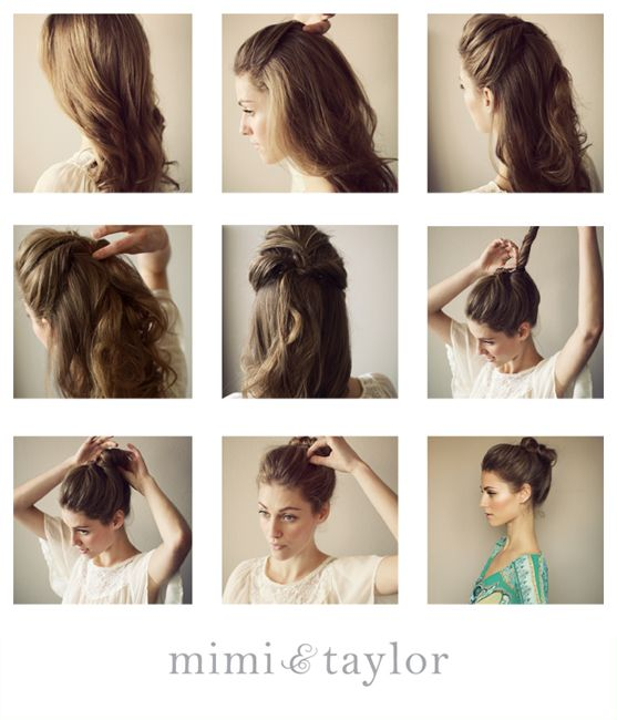 DIY- the undone bun