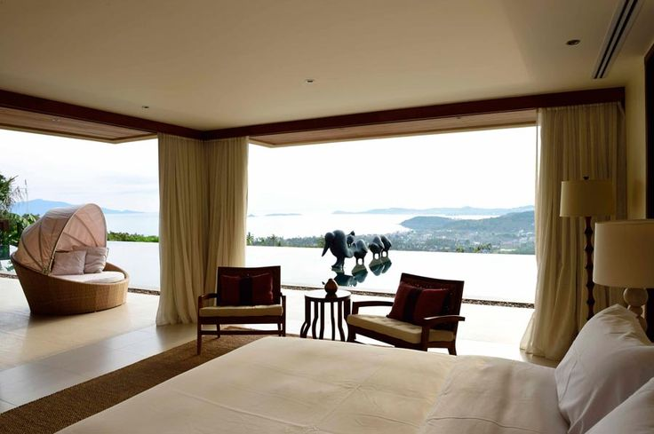 Amazing  ocean view from luxurious and specious bedroom from villa Avasara