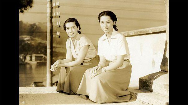 Kagawa Kyoko (香川京子, at right) 1931-, Japanese Actress