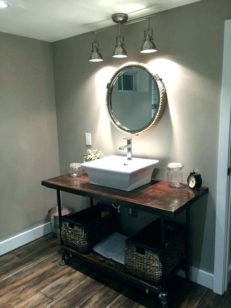 45 Bathroom Track Lighting By Gwendolyn Siciliano Bathroom Vanity Vintage Industrial Bathroom Diy Bathroom Vanity