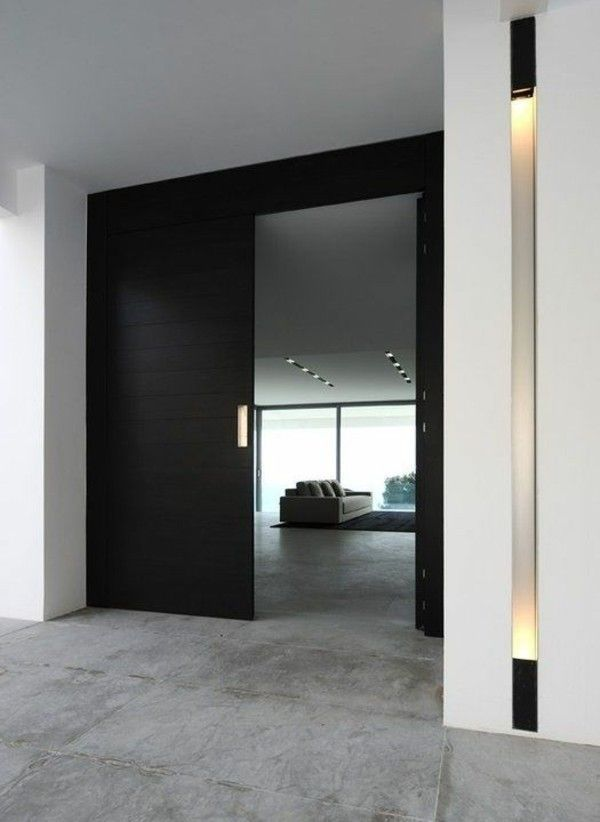 Schwarze Türen schwarze tür moderne fassadengestaltung