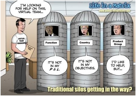 Silos are one of the greatest barriers to a flat communicative and productive organisation