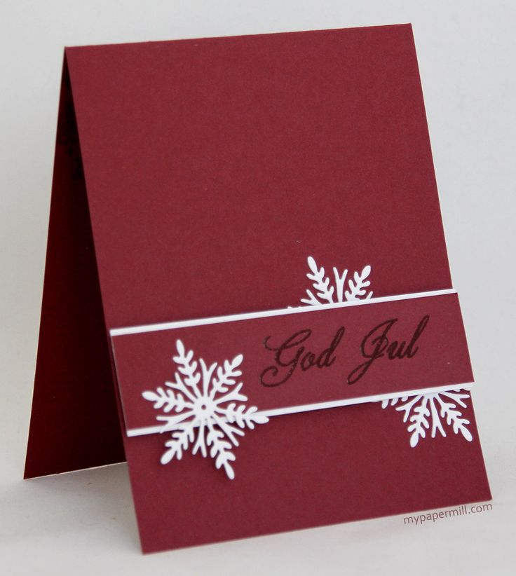 Clean and simple Christmas card. Cardstock from Papertrey ink, die from Penny Black, stamp from North Star Stamps.