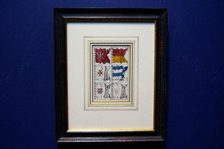 Antieke scheepsvlaggenkaart 19404 op www.lansantiek.com