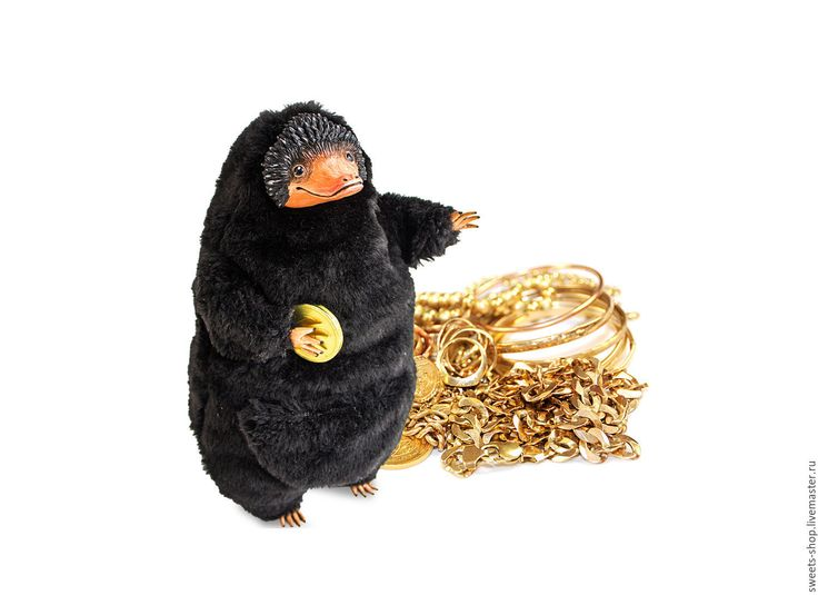 Купить Нюхлер (Нюхль) - черный, нюхль, нюхлер, игрушка ручной работы, коллекционные игрушки