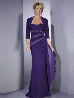 Sheath/Column Sleeveless Sweetheart Floor-Length Chiffon Mother of the Bride Dresses