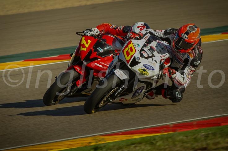 Robin Mulhauser - Bastien Chesaux - Stock600 Round Aragon - last lap