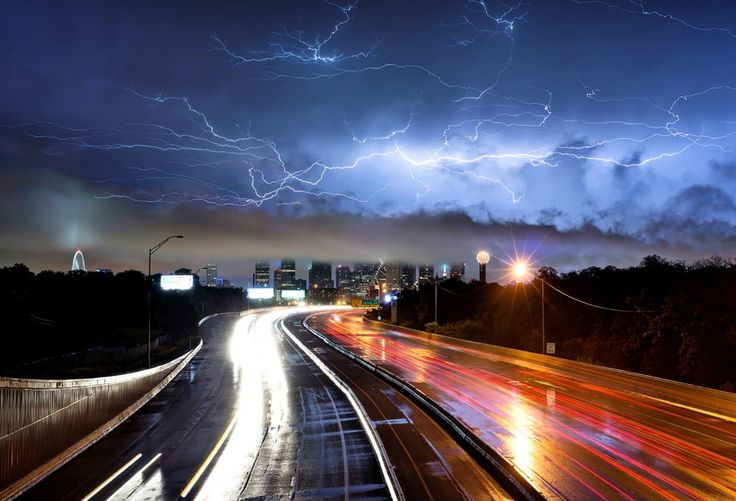 Storms Light Up Dallas, Texas