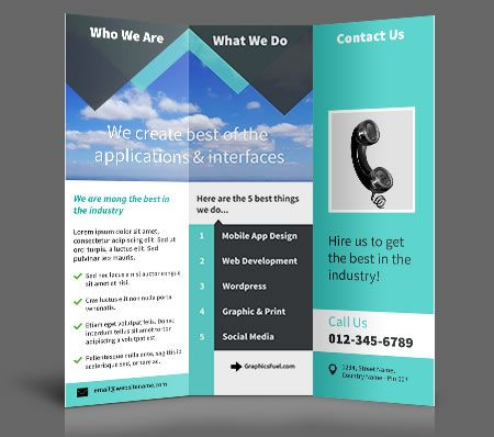 32 best Tri fold Brochures images on Pinterest Graphic prints - tri fold brochure