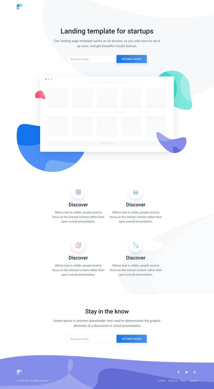 Ava Free Html Template Review Demo And Download In 2020 Web Design Tips Landing Page Web Design