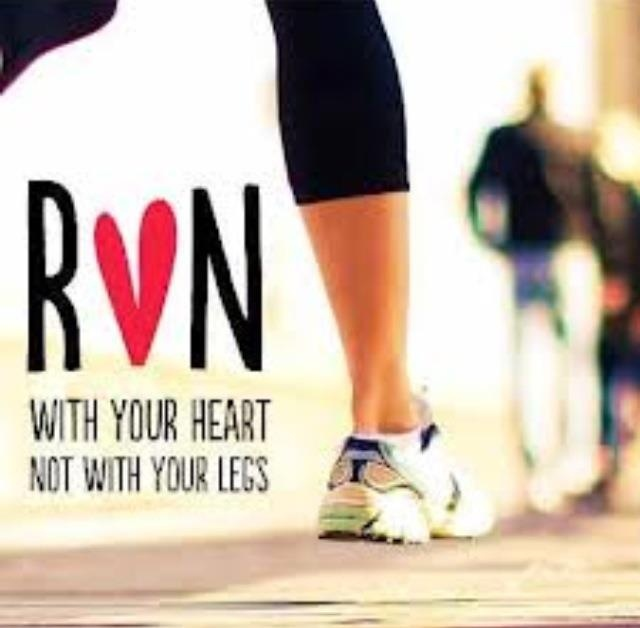 """Some days, """"heart running"""" is what gets me through my long mileage days..."""