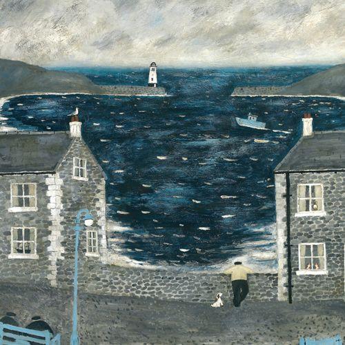 'The Harbour Wall' von Gary Bunt – Jeden Tag kommen wir runter und er lehnt sich an die Wand. Er vergisst, dass ich nur 2 Fuß 3 bin. Ich kann gar nichts sehen
