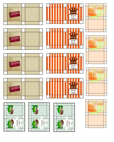 chocolate and candy printables